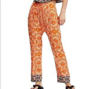 Free People Make My Day Tapestry print pants